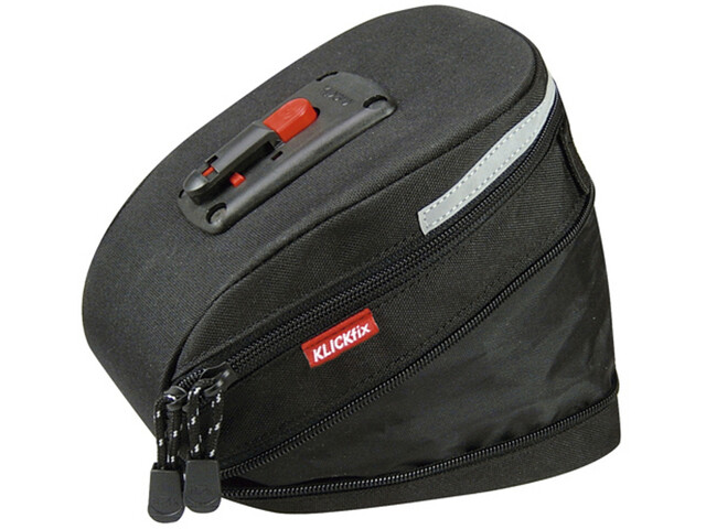 KlickFix Micro 200 Fietstas Uitbreidbaar, black